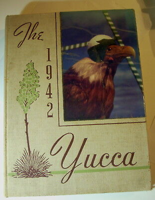"""Yearbook - UNIVERSITY OF NORTH TEXAS 1942 """"YUCCA"""" DENTON TEXAS      Mean Green!!"""