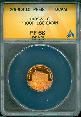 2009-S Proof Lincoln Cent Anacs Pf 68 Dcam Toned (1824143)