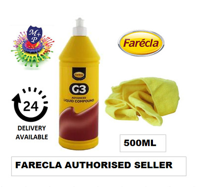 Farecla G3 Advanced Liquid Compound 500ml Bottle Car Polishing, FREE MICROFIBRE