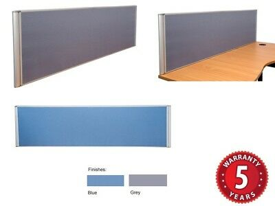 Desk Mounted Desk Divider Screens Flat Top Pinable 4 Sizes 2 Colours