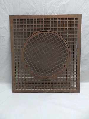 Large Antique Heat Grate Grill 29x26 Cold Air Return Vent Vtg Old 350-18P