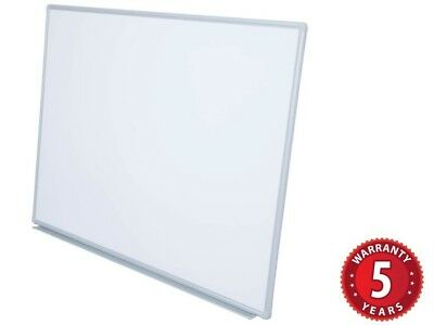 Rapidline Wall-Mounted Whiteboard w Pen Tray Magnetic 6 Sizes Budget White Board