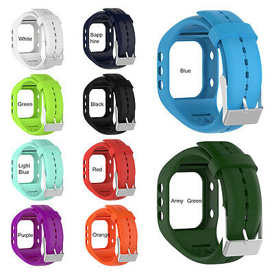 Replacement Watchband Wrist Band Strap Silicone W/ Buckle For Polar A300 Watch