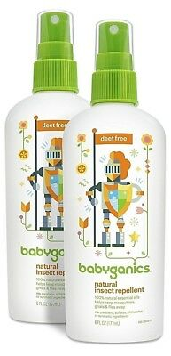 Pack of 2 - Babyganics All Natural Insect Repellent - DEET free - 2/18+
