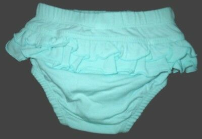 Girl Nappy Cover Frill - Pink or Aqua Blue 0000 000 Baby Frill Back Pants