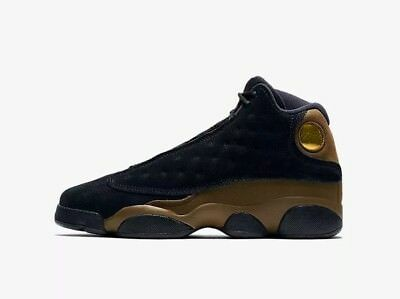 Youth (GS) Air Jordan 13 Retro Black/True Red-Light Olive 884129-006