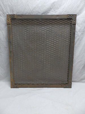 Large Industrial Vtg Wall Cold Air Return Vent Cast Iron Corners Old 353-18P