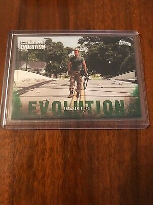 2017 Topps Walking Dead Evolution Mold Green Parallel /25 #50 Abraham Ford