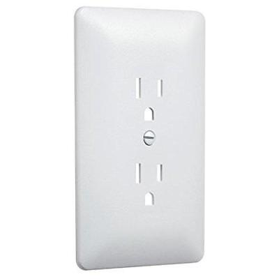 Taymac 2000W Paintable Outlet Cover Wall Plate Frame, White