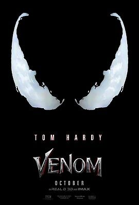"Venom Movie Poster Tom Hardy 2018 Marvel Comics Film Print 13x20"" 27x40"" 32x48"""