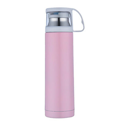 500ml Vacuum Insulated Flask Thermal Sports Water Bottle Hot/Cold Pink