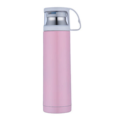 Vacuum Insulated Bottle 500ml Water Coffee Milk Thermal Flask Stainless Pink