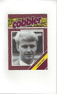 Northampton Town v Newport County FA Cup Football Programme 1987/88 Autographed