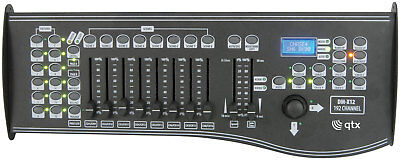 QTX DM-X12 192 Channel DMX Controller with Joystick LCD Display MIDI Connection