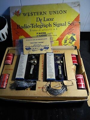 Western Union De Luxe Radio-Telegraph Signal Set In Box Toy Boy Scout