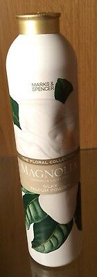 M&S THE FLORAL COLLECTION MAGNOLIA SILKY TALCUM POWDER 200g