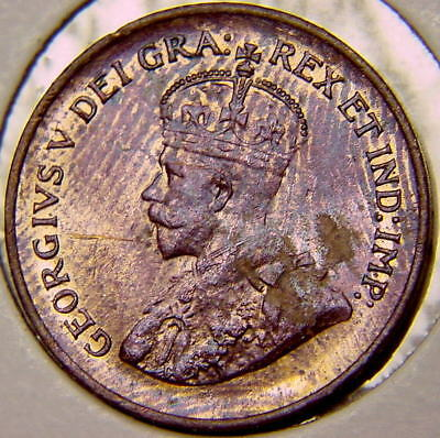CANADA 1935  Small Cent King Georges V AU/UNC N/R