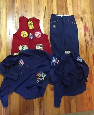 Cub Scout Lot ,Two Shirts, Vest And Pants
