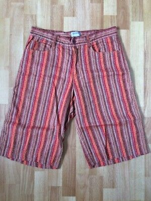 VINTAGE MISSONI SPORT Women's Size 48 Shorts Long Orange Red Brown Made In Italy