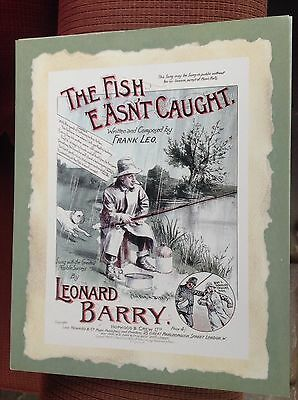 The Fish E'Asn't Caught. Cardboard big Poster/Postcard/Print. New. Reproduction.