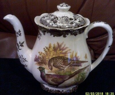 Palissy part of Royal Worcester Group. Game Series Pattern. 2pt Coffee Pot