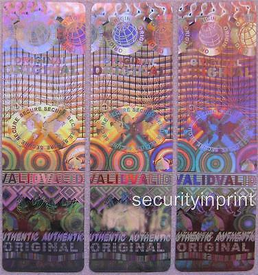 27 Globe Validated Secure Original Hologram Security stickers label 15x50 R1550
