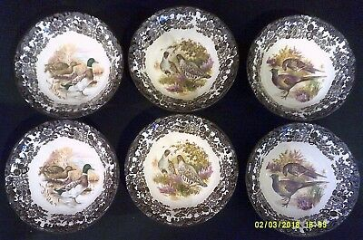 Palissy part of Royal Worcester Group. Game Series Pattern. 6 x Cereal Bowls