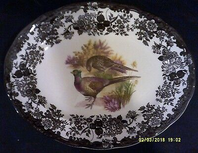"""Palissy part of Royal Worcester Group. Game Series Pattern.Stake Plate. 12"""" x 9"""