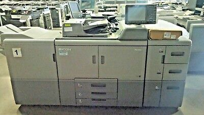 Ricoh Pro 8110S Printer, Copier With Paper Deck And Finisher