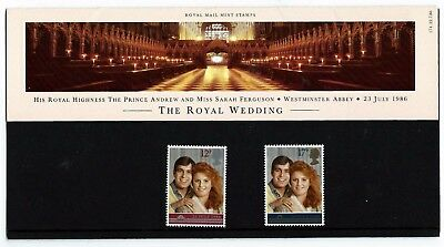 UK 1986 Royal Wedding Commemorative Booklet 2 MNH Stamps