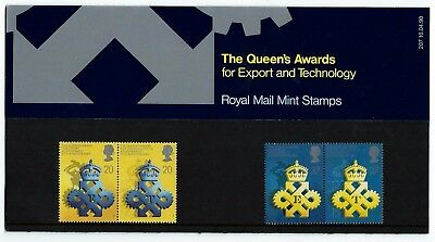 UK 1990 Booklet Queen's Award for Export/Technology 4 MNH Stamps