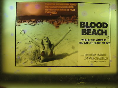 BLOOD BEACH 1980 Original Australian cinema movie projector glass slide horror