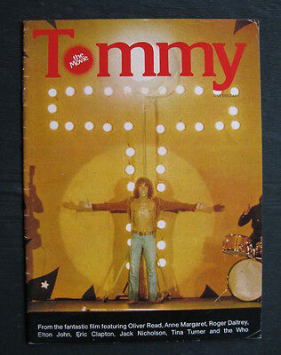 TOMMY 1975 Orig movie programme Roger Daltrey The Who Eric Clapton Elton John
