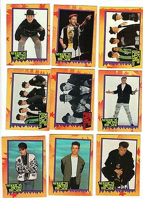 NEW KIDS ON THE BLOCK -- Complete 88 trading card set with 11 stickers