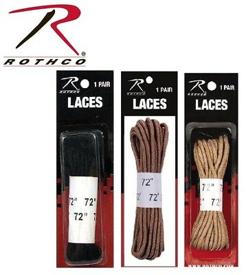 """Military Boot Laces 72"""" Nylon Military Boot Laces 1 Pair Rothco 6191 7159  7808"""