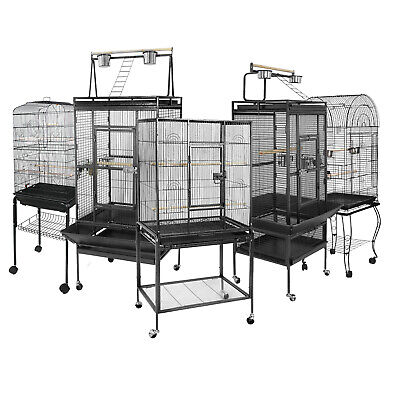 "53"" 61"" 68"" Durable Steel Bird Cage Top play area Pet Supplies Large Parrot Cage"