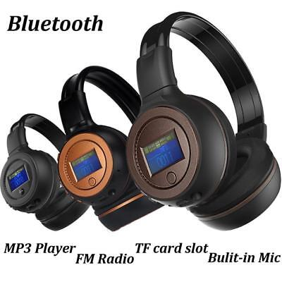 Stereo Bluetooth3.0 Wireless FM SD TF Card MP3 Headset/Headphones With Mic