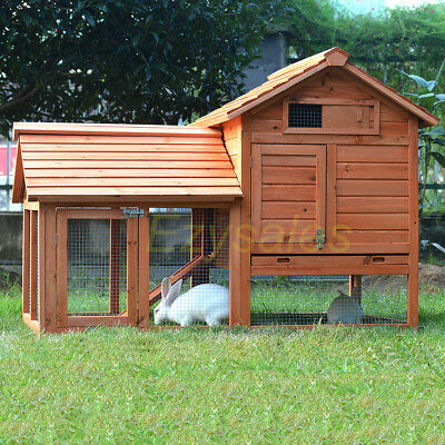 X-LARGE Rabbit Hutch & Guinea Pig Cage, Chicken coop Wooden Drinker bottle