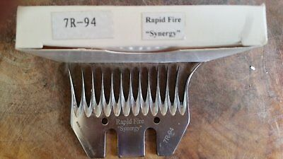 Pack of 5 SPECIAL Rapid Fire Synergy Shearing Combs 7R-94