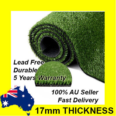2M WIDE, 20 SQM Artificial Grass Synthetic Turf Plastic Plant Fake Lawn Flooring