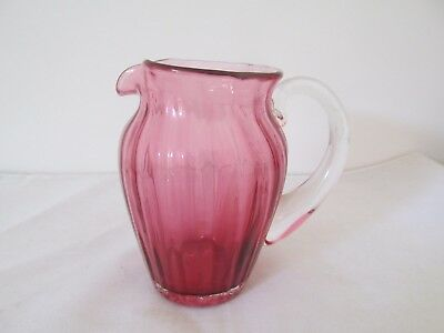 Antique Ruby Glass or Cranberry Glass Small Jug Very Attractive