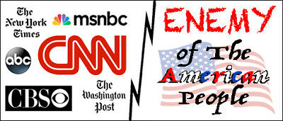 "PRO-TRUMP FAKE NEWS MEDIA VINYL BUMPER STICKER MAGNET - ""Enemy of The People"""