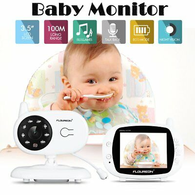 "3.5"" Digital Wireless Baby Monitor Video Security Camera 2 Way Talk Night Vision"