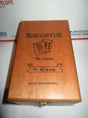 Baccarate 'the Game' Dovetailed Wooden Cigar Box Very Good Condition