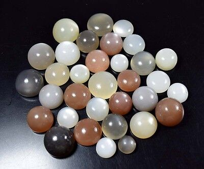 473.50 Cts.  100 % Natural  Silky Moonstones Mix  Round Cabs Loose Gemstones