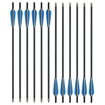 "12Pcs Carbon Arrows 20"" Crossbow Bolts For Hunting Target Practice Archery Arrow"