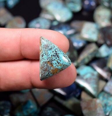 Designer Chrysocolla ! 14.60 Cts. 100 % Natural Fancy Cab For Silver Jewelry