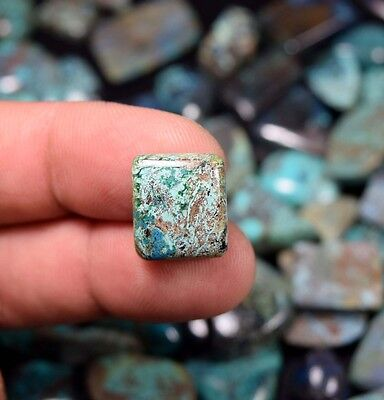 Brilliant Chrysocolla ! 7.50 Cts. 100 % Natural Cushion Cab For Silver Jewelry