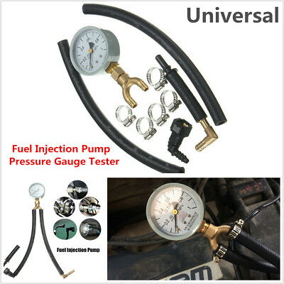 Car Automotive Fuel Injection Pump Pressure Gauge Tester Car Gasoline Tester Kit
