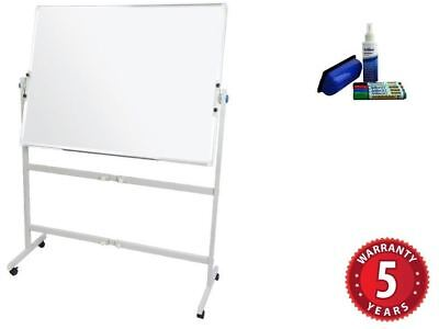 Rapidline Mobile Pivoting Whiteboard Double Sided White Board Magnetic